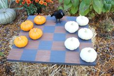 {DIY} Pumpkin Checker Board Game