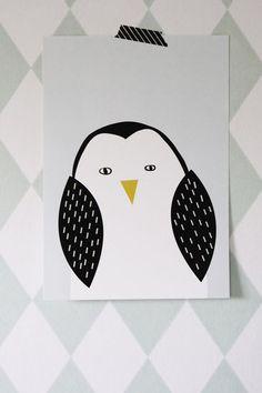 Pilkkuraita - Pingviini-printti