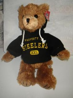 NFL OFFICIAL STEELERS TEDDY BEAR. FREE SHIPPING AND FREE PHOTONS