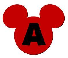 Lindo alfabeto de la cabeza de Mickey.