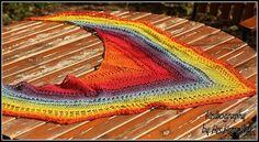 Rainbow Lace Shawl  fine yarn in lush by KnitographyByMumpitz, kr500.00