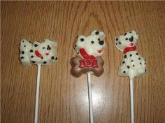 101 dalmatians party favors - Google Search Dalmatian Party, Dalmatian Dogs, Puppy Party, Lollipop Party, Fireman Party, Chocolate Lollipops, Party Themes, Party Ideas, 101 Dalmatians