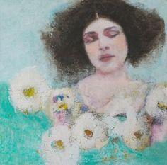Veronique Paquerau, La delicatesse, Mixed Media on canvas, 40x40 cm, €.350,-