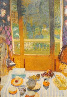 Pierre Bonnard - The Breakfast Room 1930 Pierre Bonnard, Paul Gauguin, Art Populaire, Edouard Vuillard, Museum Of Modern Art, French Artists, Figurative Art, Van Gogh, Art Photography