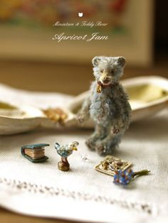 Tiny Teddy and His Toys ~ My Teddy Bear, Cute Teddy Bears, Bear Toy, Tiny Teddies, Love Bear, Tiny Treasures, Mini Things, Soft Sculpture, Old Toys