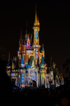 Cinderella's Castle at Disneyworld - light show for 'A Magical Gathering of…