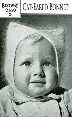 From the album Vintage. Sock Dolls, Felt Dolls, Baby Dolls, Hat Patterns To Sew, Knitting Patterns, Knitting Ideas, Knitting For Kids, Easy Knitting, Baby Helmet