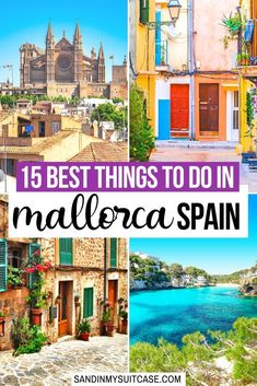 The Ultimate Mallorca Bucket List: find out the 15 most epic things to do in Mallorca, Spain. From hiking the oh-so-picturesque countryside to swimming at [. Spain Travel Guide, Europe Travel Tips, European Travel, Oregon, Cool Places To Visit, Places To Travel, Beach Cove, Spain And Portugal, Portugal Travel