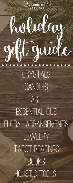 Crystals, books, art, candles, essential oils, body sprays, coloring books, floral centerpieces, tarot and energy readings, and more - all perfect for gifting and waiting to be discovered