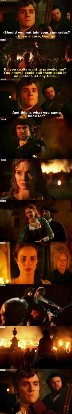 """""""And this is what you came back for?"""" - George, Ross and Demelza #Poldark"""