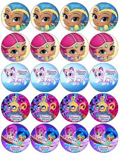 SHIMMER AND SHINE V1 EDIBLE WAFER PAPER TOPPERS CUPCAKE CAKE MUFFIN in Crafts, Cake Decorating | eBay Bottle Cap Projects, Bottle Cap Crafts, Bottle Caps, Shimmer And Shine Characters, Shimmer And Shine Cake, Cumple Peppa Pig, Little Charmers, Girl Birthday Decorations, Bday Girl