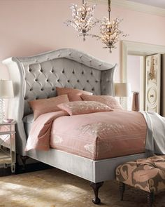 "Haute HouseSilver ""Peekaboo"" Bed    in April Collection 2013 from Horchow on shop.CatalogSpree.com, my personal digital mall."