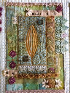 I'm stuck at home today waiting for the window engineer to arrive. Two of our double glazed windows have blown and luckily they are under g. Fabric Painting, Fabric Art, Fabric Books, Painting Art, Colchas Quilt, Quilting, Fabric Journals, Textile Fiber Art, Sewing Appliques