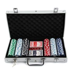 MultiWare 300 Pcs Poker Chips Sets Casino Game in Aluminium Case With 2 Sets of Playing Cards Poker Set, Poker Games, Poker Chips, Casino Games, 2 Set, Playing Cards, Toys, Activity Toys, Toy