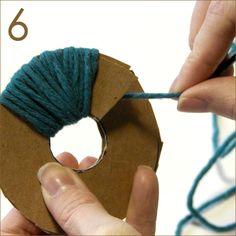 "making yarn pom poms with homemade ""tool"" making yarn pom poms with homemade ""tool"" Pom Pom Crafts, Yarn Crafts, Baby Hats Knitting, Loom Knitting, Crochet Bunting Free Pattern, Homemade Rugs, Homemade Tools, Classic Elite Yarns, Pom Pom Rug"