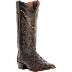 Dan Post Mens Chocolate Caiman Skin Birmingham R Toe Cowboy Boots