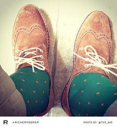 Richer Poorer - Polka Dots Socks - Green :: Maxton Men