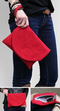 DIY clutch handbag
