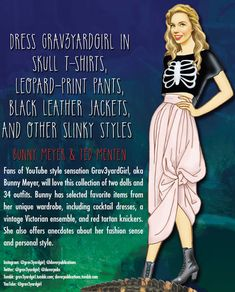 Graveyard Girls Paper Dolls from Dover Publications
