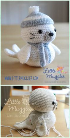 Crochet Amigurumi Sammy the Seal Free Pattern - Amigurumi Crochet Sea Creature Animal Toy Free Patterns