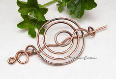 Copper Spiral bun cage hair bun holderhair bun by MusawwarCreation