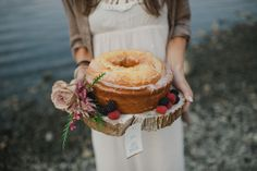 rustic bundt cake // Event Styling & Floral Design: Stacy Anderson Design, Stationary: Carina Skrobecki Design, Photography: Kate Price Photography & Carina Skrobecki Photography, Make-Up: Jen Price