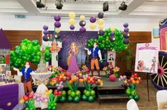 Rapunzel + Tangled themed birthday party with So Many Cute Ideas via Kara's Party Ideas | KarasPartyIdeas.com Full of decorating tips, cake, games, favors, printables, and MORE! #tangledparty #rapunzelparty #tangled #partyideas #partyplanning #eventstyling (28)
