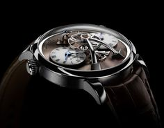 MB&F Legacy Machine N. 1 Final Edition in steel with dark chocolate dial