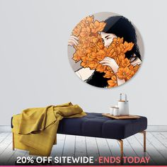 Discover «Orange flower», Limited Edition Disk Print by Paola Morpheus - From 240€ - Curioos