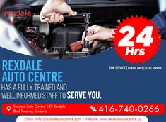 At Rexdale Auto Centre, We Not Only Take Care of Your Routine Vehicle Maintenance But are also Here When You're in Need of Any Repairs.  For Services & More Info Contact: Call: 416-740-0266 Visit: www.rexdaleautocentre.ca  #RexdaleAutoCentre #AutoMaintenanceServices #TireServices #FlatTireRepair #AutoRepairServices #Wheel #AutoRepair #Car #OntarioCA #UplandCA #Ontario #Service #Upland #Alignment #Maintenance Car Repair Service, Flat Tire, Car Rental, Take Care Of Yourself, Ontario, Centre, Routine, Vehicle, Train