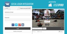 VK.com Social Connect for UserPro . This is an extension for the UserPro Profiles Plugin for