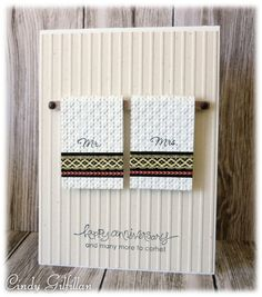 towels - Homemade Cards, Rubber Stamp Art, & Paper Crafts - Splitcoaststampers.com