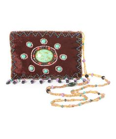 Another great find on #zulily! Eggplant Beaded Velvet Crossbody Bag by Ten79LA #zulilyfinds