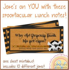 halloween joke printables for lunch boxes
