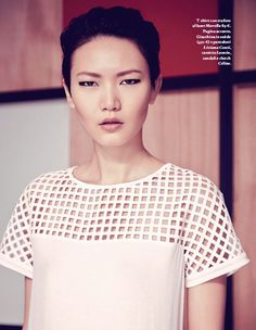 ASIAN MODELS BLOG: EDITORIAL: Gwen Lu & Lee Hye Jung in (Italy) Io Donna, March 2013