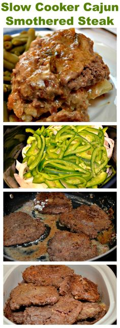 This #Smothered Steak is cooked low and slow in the Slow Cooker until it is fork tender. The flavor is amazing with the bell pepper, onions, Worcestershire sauce, Lipton onion soup mix and Cajun Seasoning. #Cajun #steak #dinner #entree