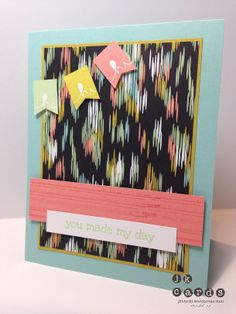 Stampin' Up!, Mojo 324, A Dozen Thoughts, Gorgeous Grunge, Banner Blast**, Sweet Sorbet DSP**, Banner Punch** (2014 Sale-A-Bration Catalog - January 28 to March 31, 2014)