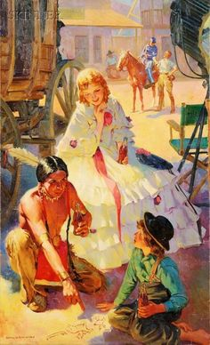 Harold N. Anderson possibly used for Coke ad, 1945 Antique Art, Vintage Art, Harry Anderson, European Paintings, Le Far West, Norman Rockwell, Various Artists, Painting For Kids, Indian Art