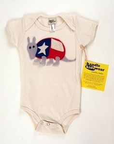 Every time I see these cute Texas onesies in Austin, I wish I had lots of money, lots of felt or lots of friends with Texas themed babies.
