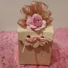 12 party favor boxes per order. Very nice embossed shiny cardstock box. Very light pink box embellished with rose pink ribbon with gold edge. Check out this item in my Etsy shop https://www.etsy.com/listing/293477307/party-favorspink-party-favorsbaby-shower