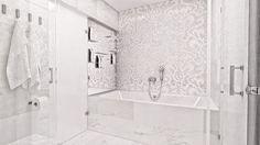 Biely mramor so striebrom... Viac náhľadov tejto vizualizácie na: Kupelnovy-manual.sk