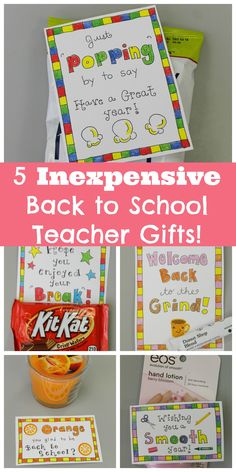 5 Inexpensive Back to School Gifts for Teachers