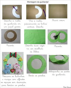 Mila Arts - moldes e PAP: Passo a passo guirlanda natalina Gatinhos