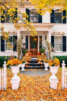 Seven Fall Porch Decorating Ideas. Antique Homes and Lifestyle
