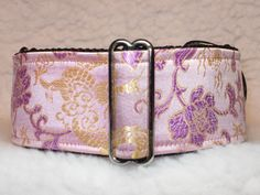 "Martingale Collar, Asian Silk, Martingale Collar, 2"" Inch, Whippet Martingale Collar, Greyhound Martingale Collar, Galgo, Pink/Gold/Burgundy by VictoriaDreamCollars on Etsy https://www.etsy.com/listing/502220439/martingale-collar-asian-silk-martingale"