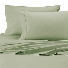 Wamsutta® Cool Touch Percale Egyptian Cotton Twin Flat Sheet in Green