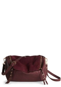 Setting the Jewel Tone Bag. Add a saturated flourish to your ensemble with this rich burgundy bag. #purple #modcloth