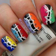 32 Color Full Nail Art Tutorials This Summer
