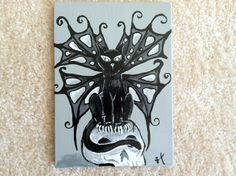 Goth Fairy Kitty - Acrylic By: Lauren Tornetta