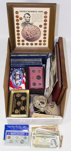 Lot 69: Coin, Currency, Token and Stamp Assortment;